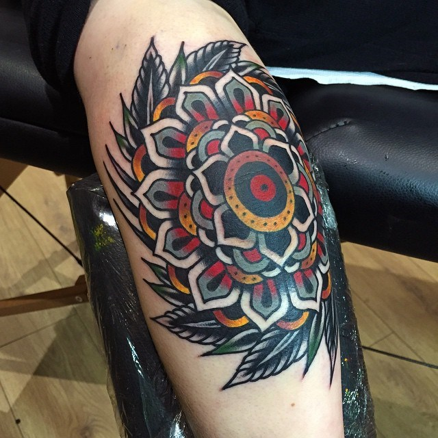 traditional mandala tattoo 17