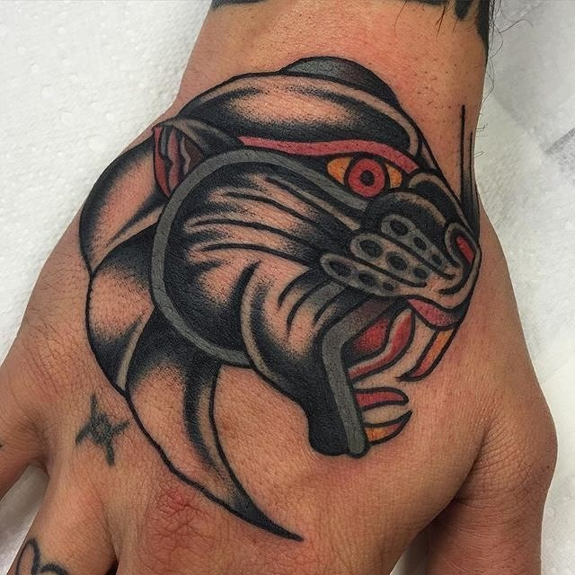 traditional panther tattoo 18