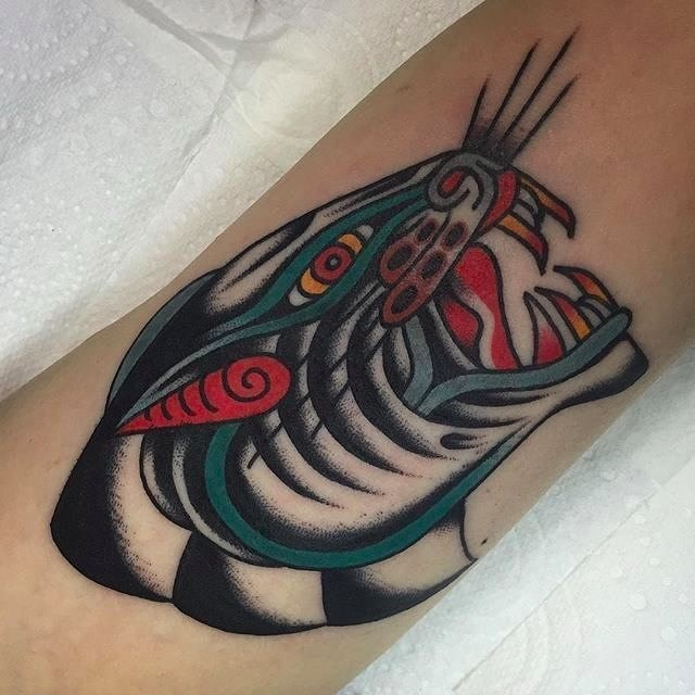 traditional panther tattoo 21