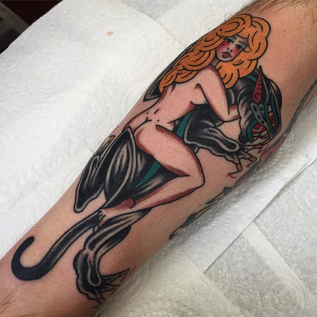 traditional panther tattoo 32