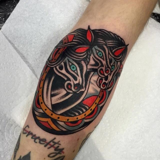 Traditional Pharaohs Horses Tattoo 4