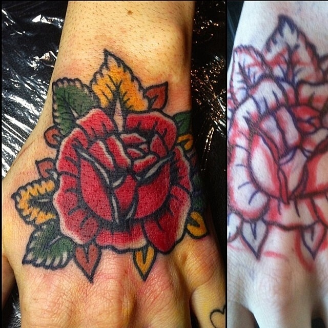 Traditional Rose Tattoo 02