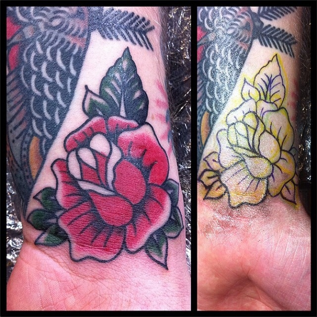 Traditional Rose Tattoo 05