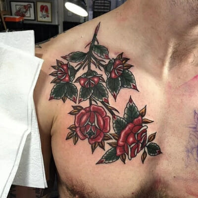 Traditional Rose Tattoo 16