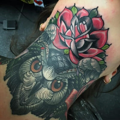 Traditional Rose Tattoo 20