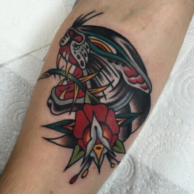 Traditional Rose Tattoo 27