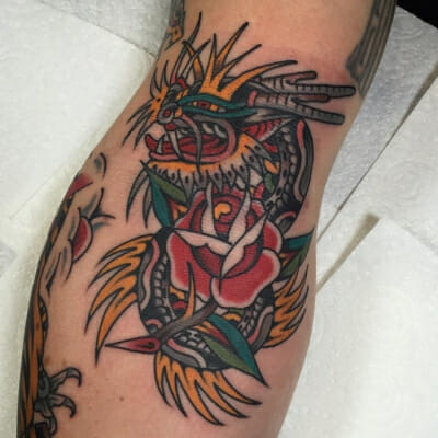 Traditional Rose Tattoo 29