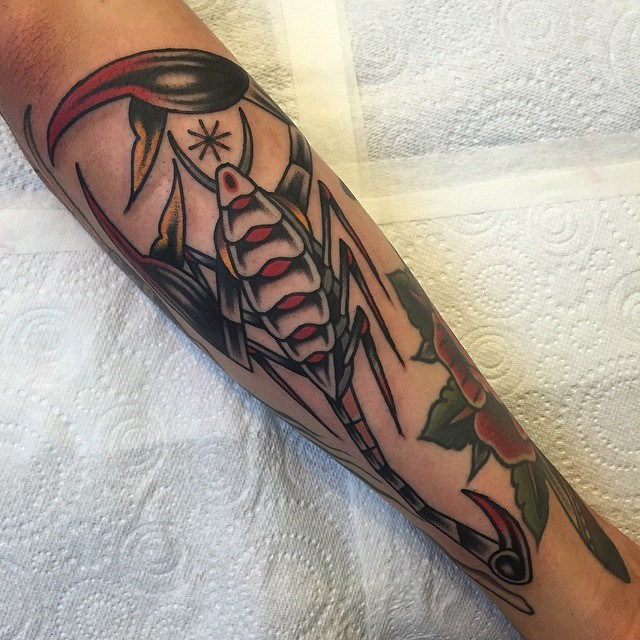 traditional scorpion tattoo 01