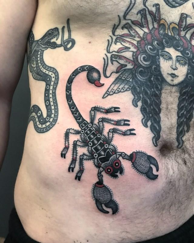 traditional scorpion tattoo 11