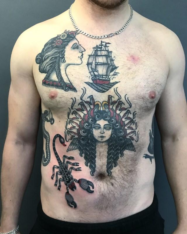 traditional scorpion tattoo 12