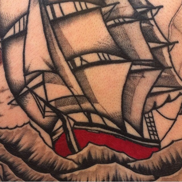 Traditional Ship Tattoo 03