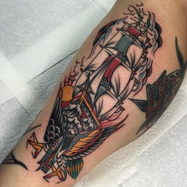 Traditional Ship Tattoo 21