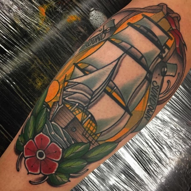 traditional ship tattoo 27