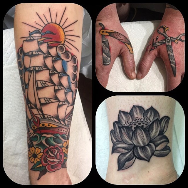 traditional ship tattoo 32