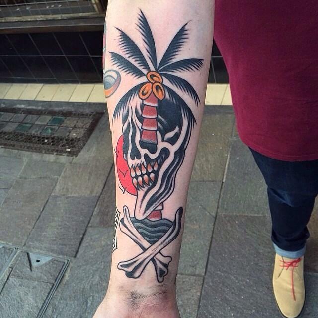 traditional skull tattoo 01
