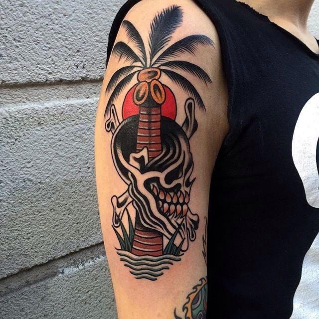 Traditional Skull Tattoo 05