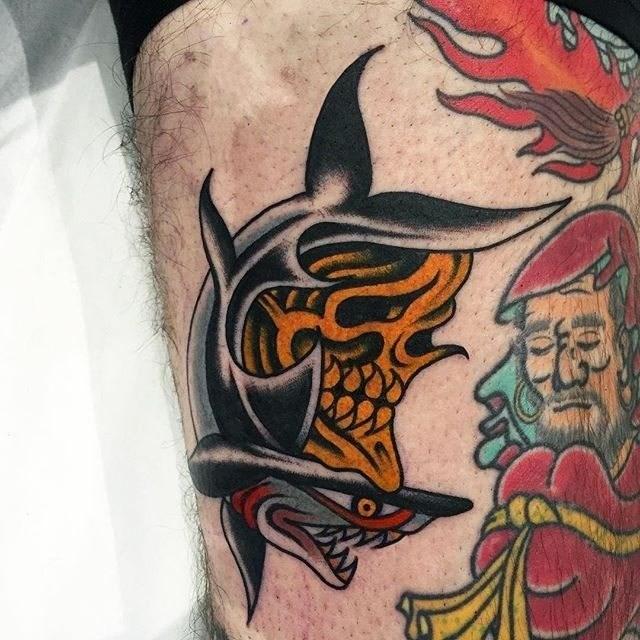 Traditional Skull Tattoo 09