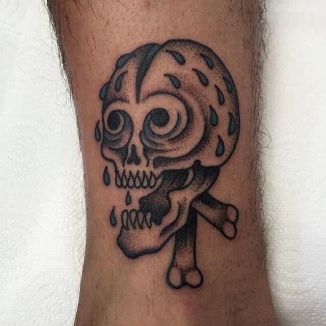 Traditional Skull Tattoo 14