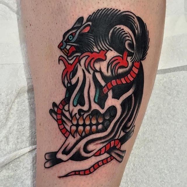 Traditional Skull Tattoo 18