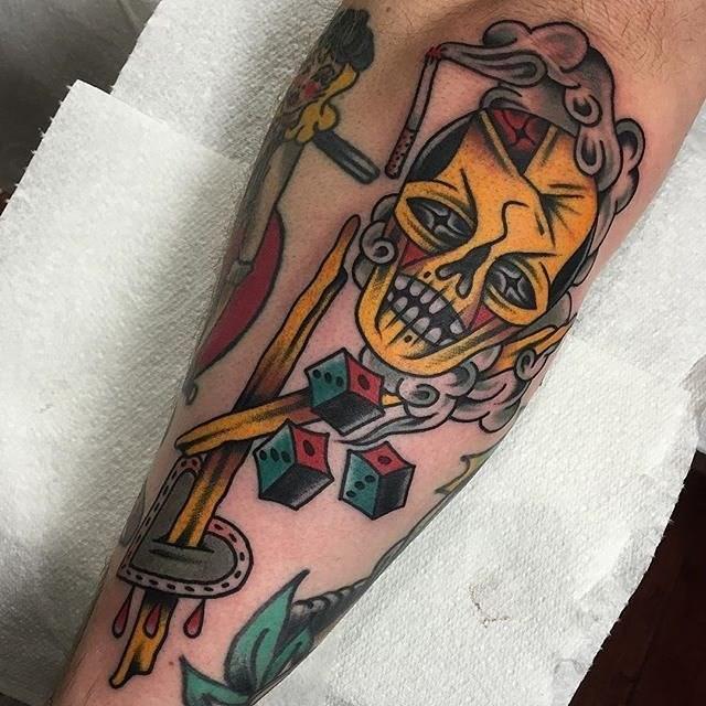 traditional skull tattoo 20