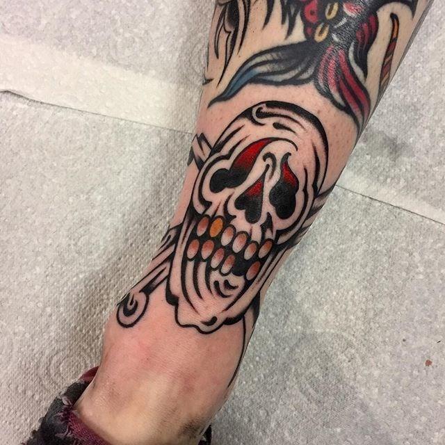 Traditional Skull Tattoo 25