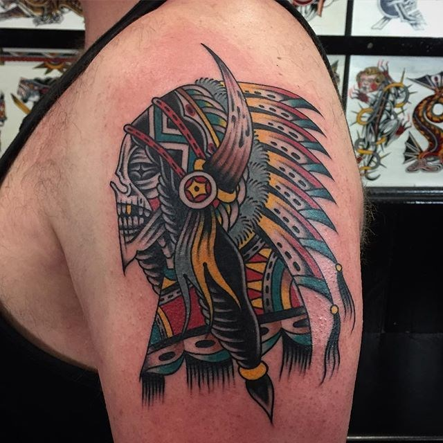 Traditional Skull Tattoo 28