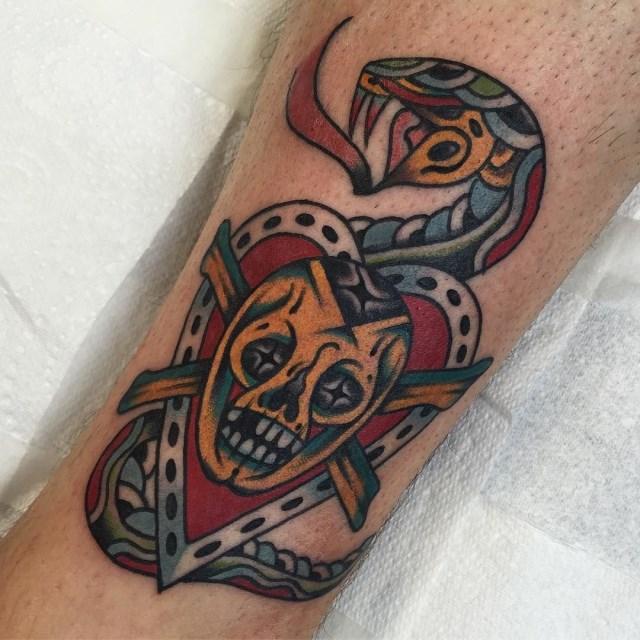 Traditional Skull Tattoo 36