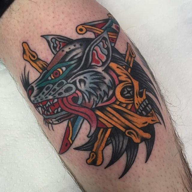 traditional skull tattoo 39