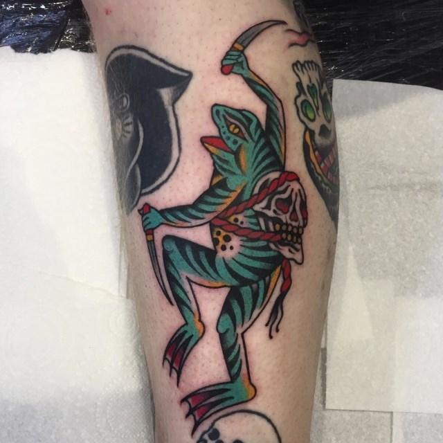 traditional skull tattoo 44