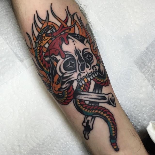 Traditional Skull Tattoo 45