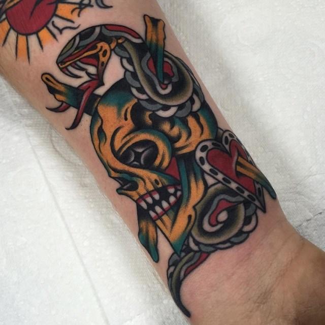 Traditional Skull Tattoo 47