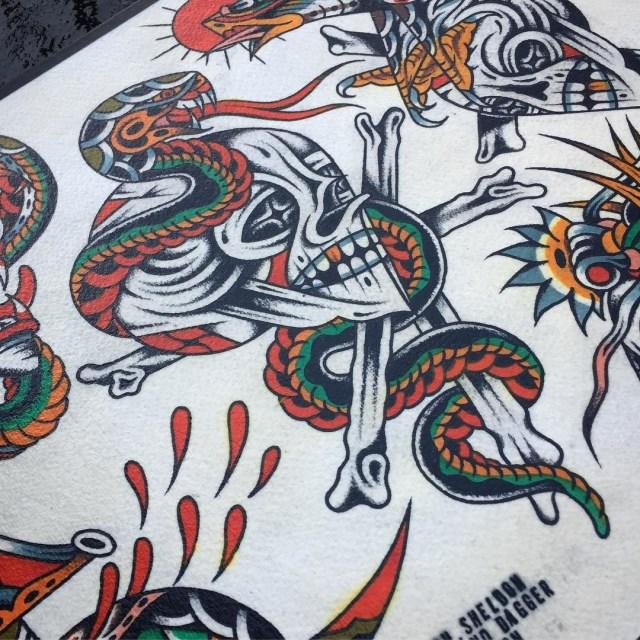 traditional skull tattoo 49