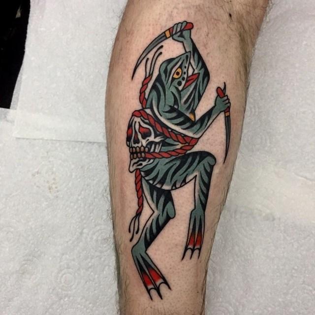 traditional skull tattoo 50