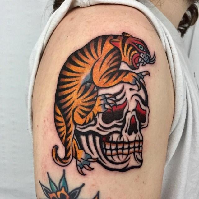Traditional Skull Tattoo 52