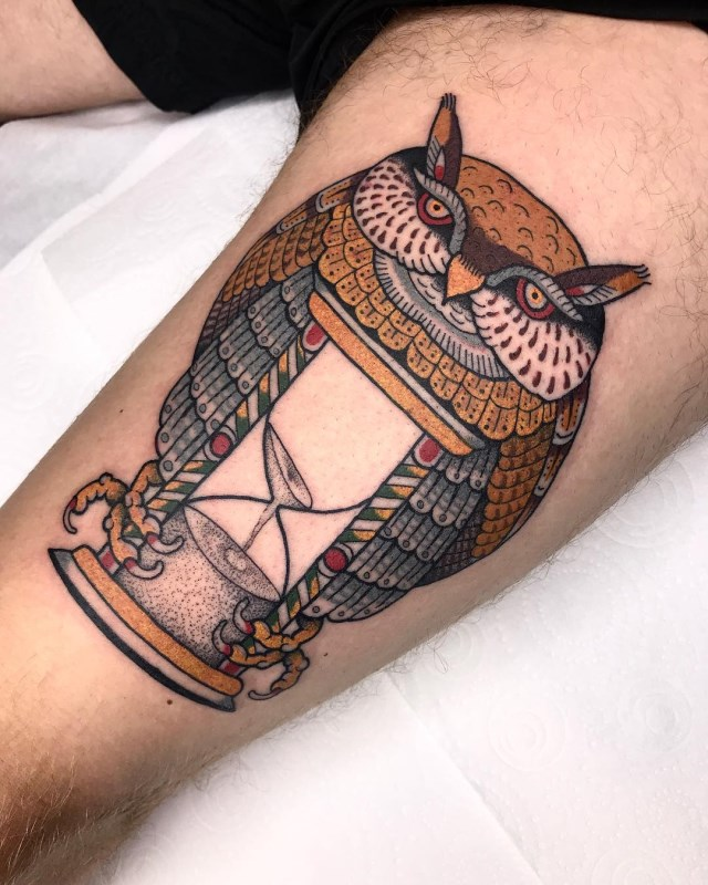 traditional-style-owl-tattoo-4