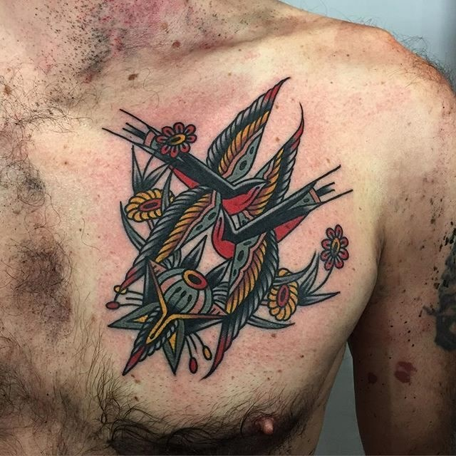 traditional swallow tattoo 20