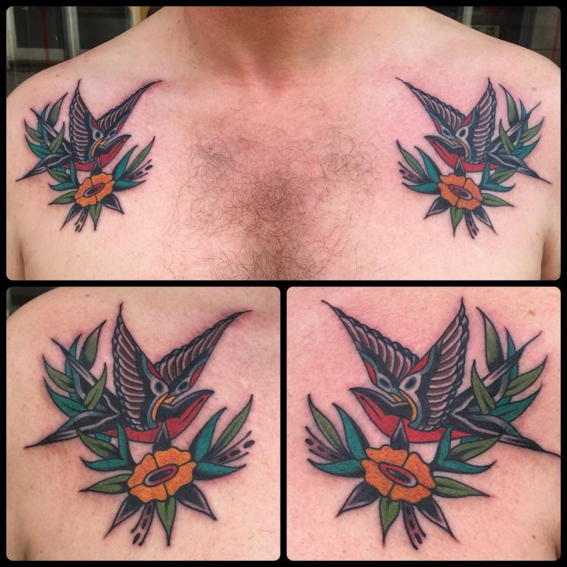 traditional swallow tattoo 45
