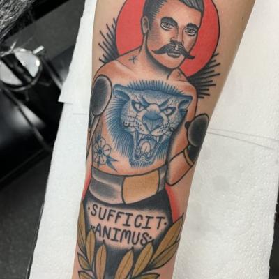 Traditional Tattooed Boxer Tattoo
