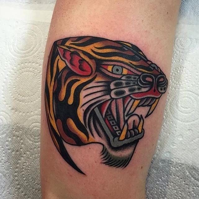 Traditional Tiger Tattoo 03