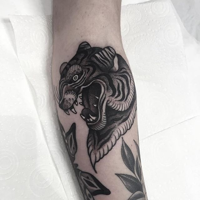 traditional tiger tattoo 06