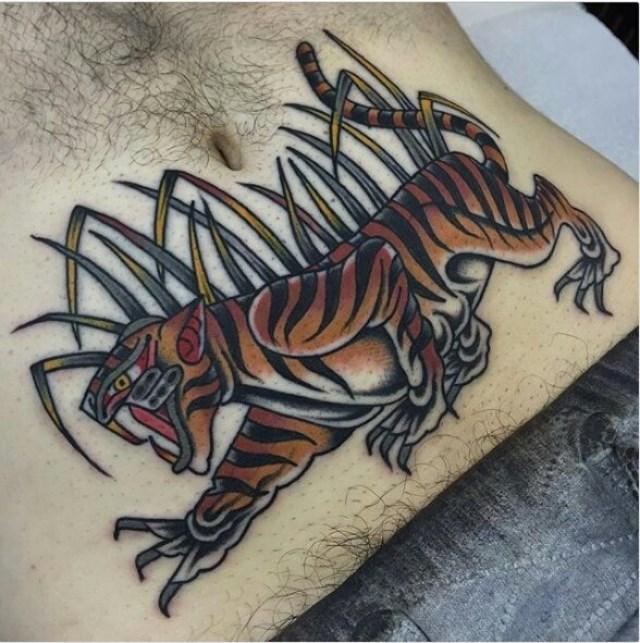 Traditional Tiger Tattoo 10