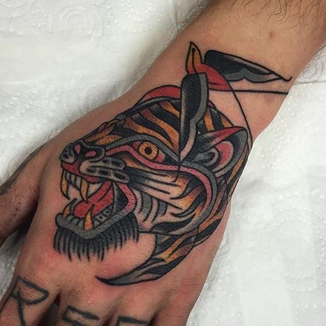 Traditional Tiger Tattoo 16