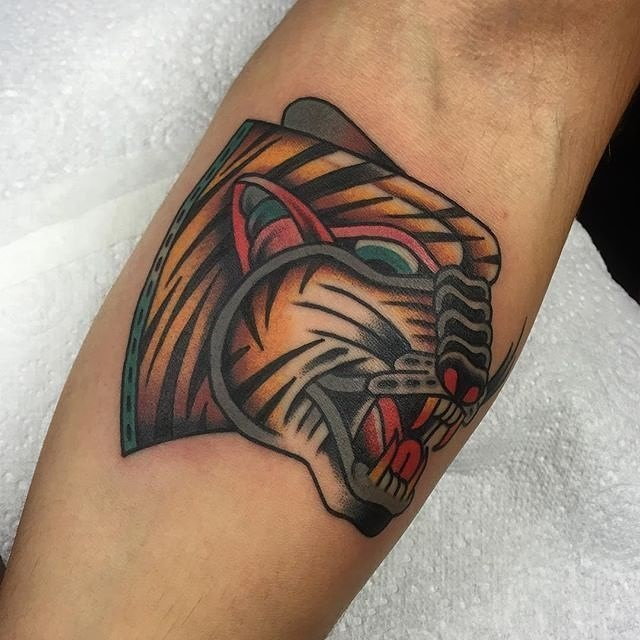 Traditional Tiger Tattoo 17