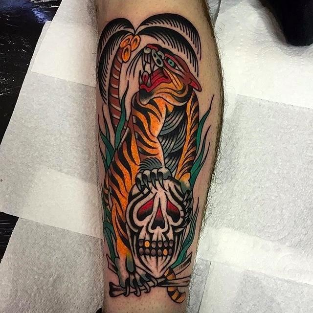 Traditional Tiger Tattoo 19