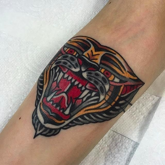 Traditional Tiger Tattoo 20