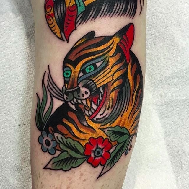 traditional tiger tattoo 21