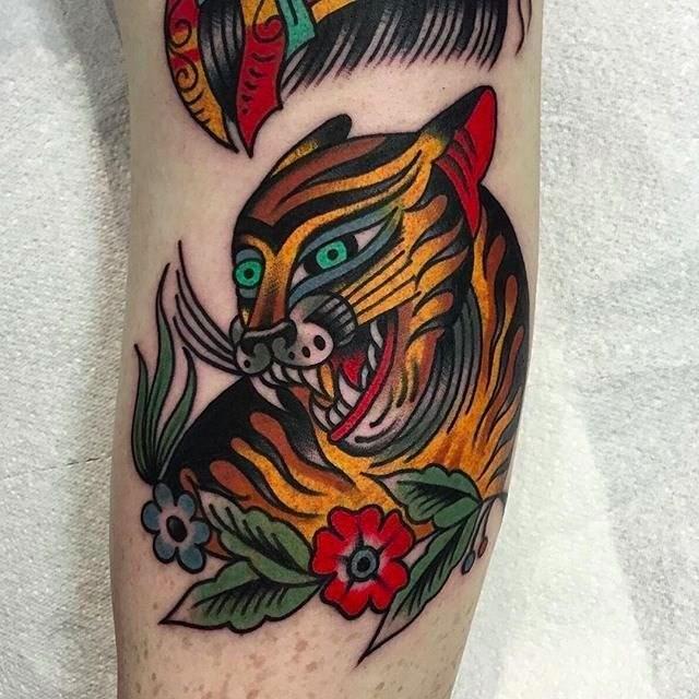 Traditional Tiger Tattoo 21