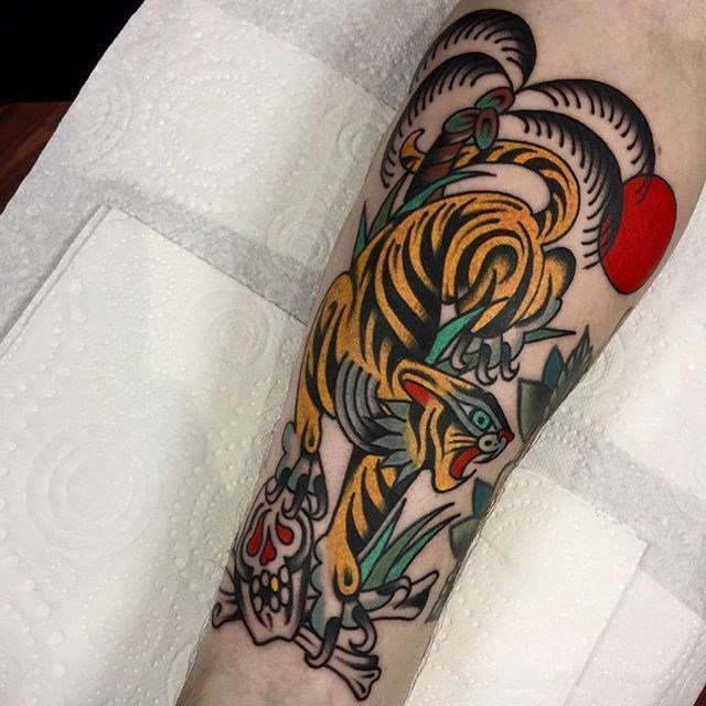 traditional tiger tattoo 25