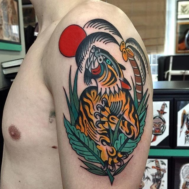 traditional tiger tattoo 27