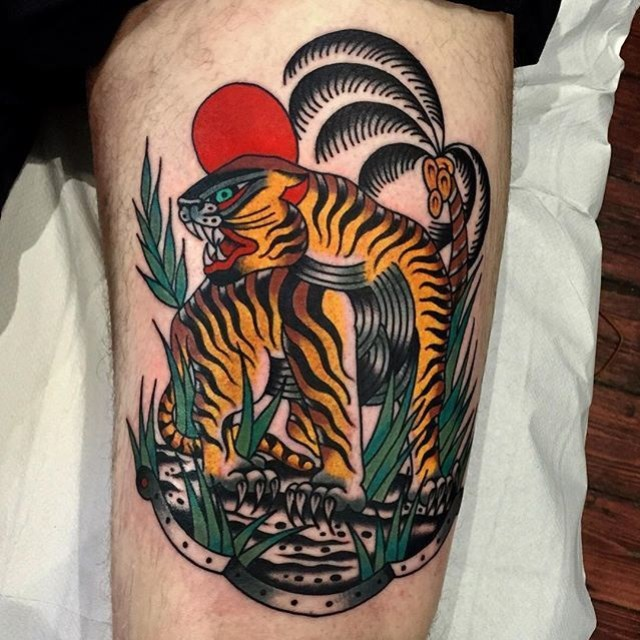 Traditional Tiger Tattoo 28